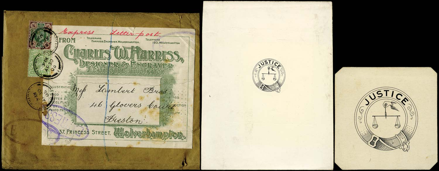 GB 1903  SG217, 236 Cover GB 1903 Express Mail parcel