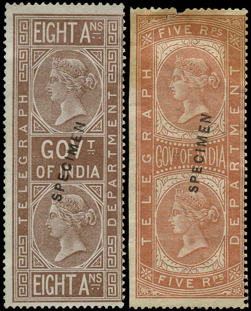 INDIA 1869  SGT7w, 12w Telegraph