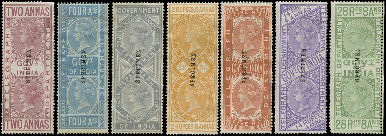 INDIA 1869  SGT5/6, 9/10, 12, 15, 18 Telegraph