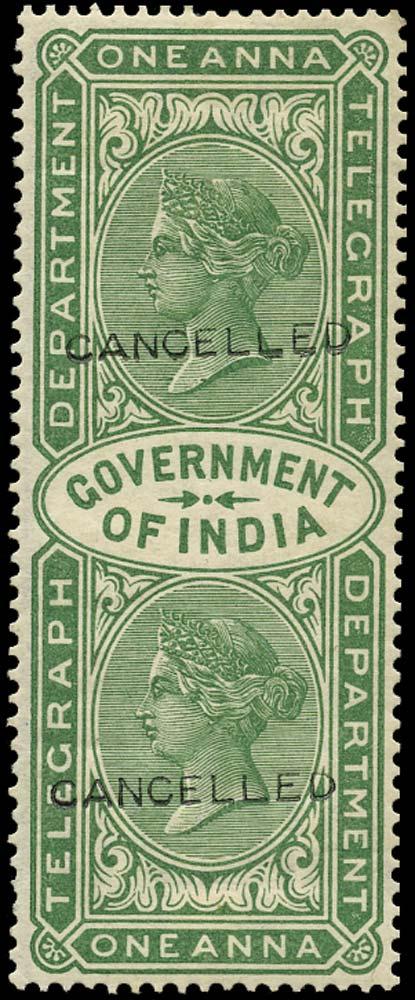 INDIA 1869  SGT4 Telegraph