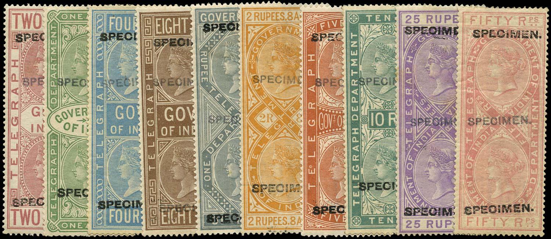 INDIA 1882  SGT5, T32, T34/41 Telegraph