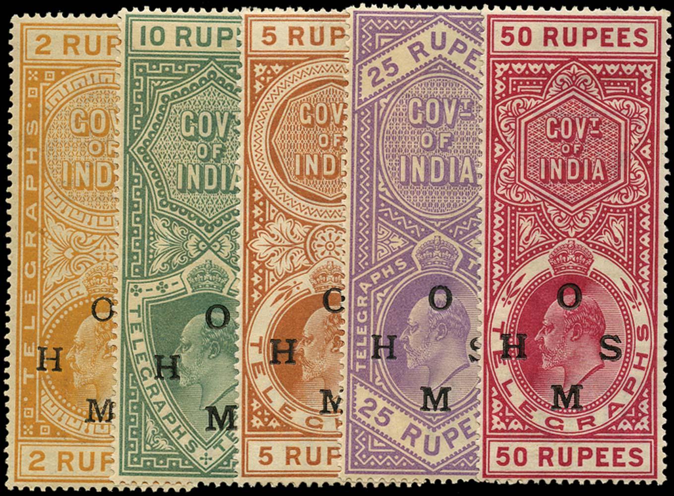 INDIA 1908  SGOT1/5 Telegraph