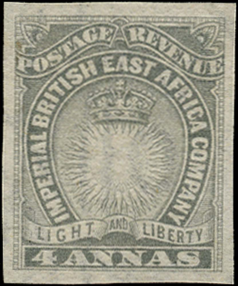 BRITISH EAST AFRICA 1890  SG10 Mint 4a grey imperforate