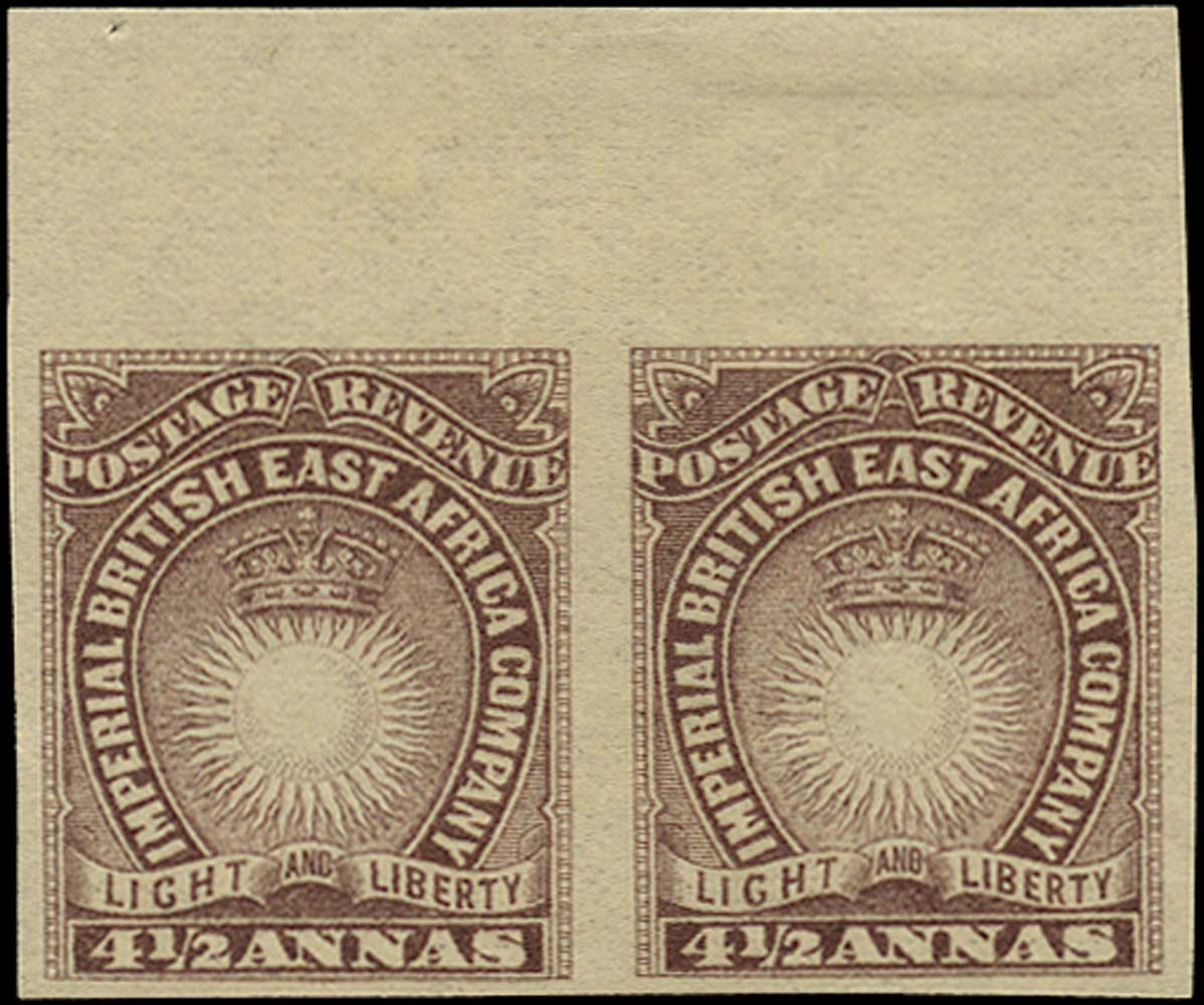 BRITISH EAST AFRICA 1890  SG11ab Mint 4½a brown-purple imperforate