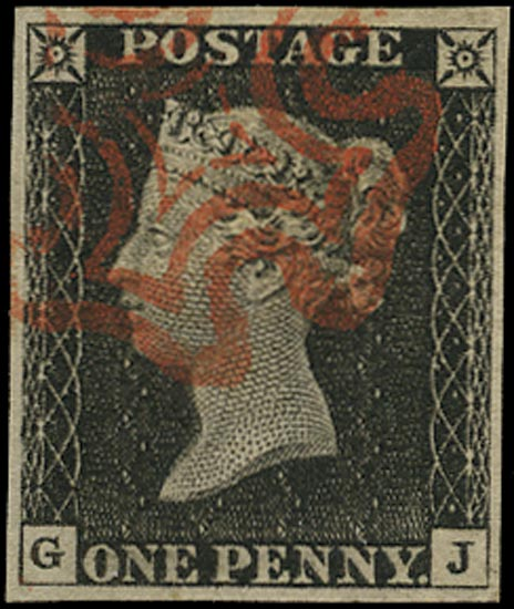 GB 1840  SG2 Pl.3 Penny Black VFU crisp red MC (GJ)