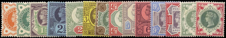 GB 1887  SG197/214 Mint unmounted o.g. set of fourteen
