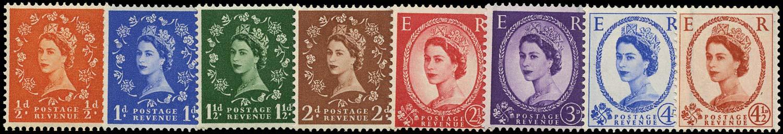 GB 1958  SG587/94 Mint