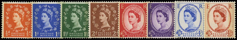 GB 1959  SG599/609 Mint