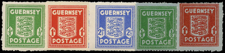 GB 1941  SGG1/5 Mint War Occupation Issues U/M set of 5