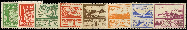 GB 1941  SGJ1/8 Mint War Occupation Issues U/M set of 8