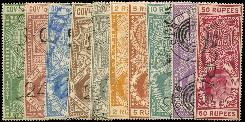 INDIA 1904  SGT56/65 Telegraph