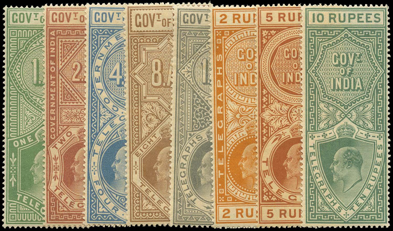 INDIA 1904  SGT56/63 Telegraph