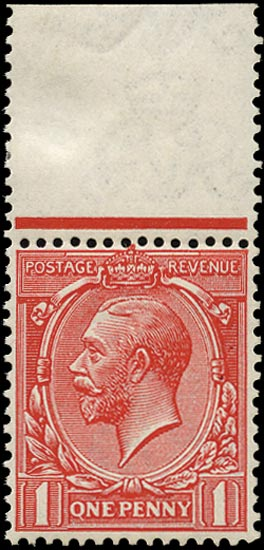 GB 1914  SG357a Mint - Q for O variety