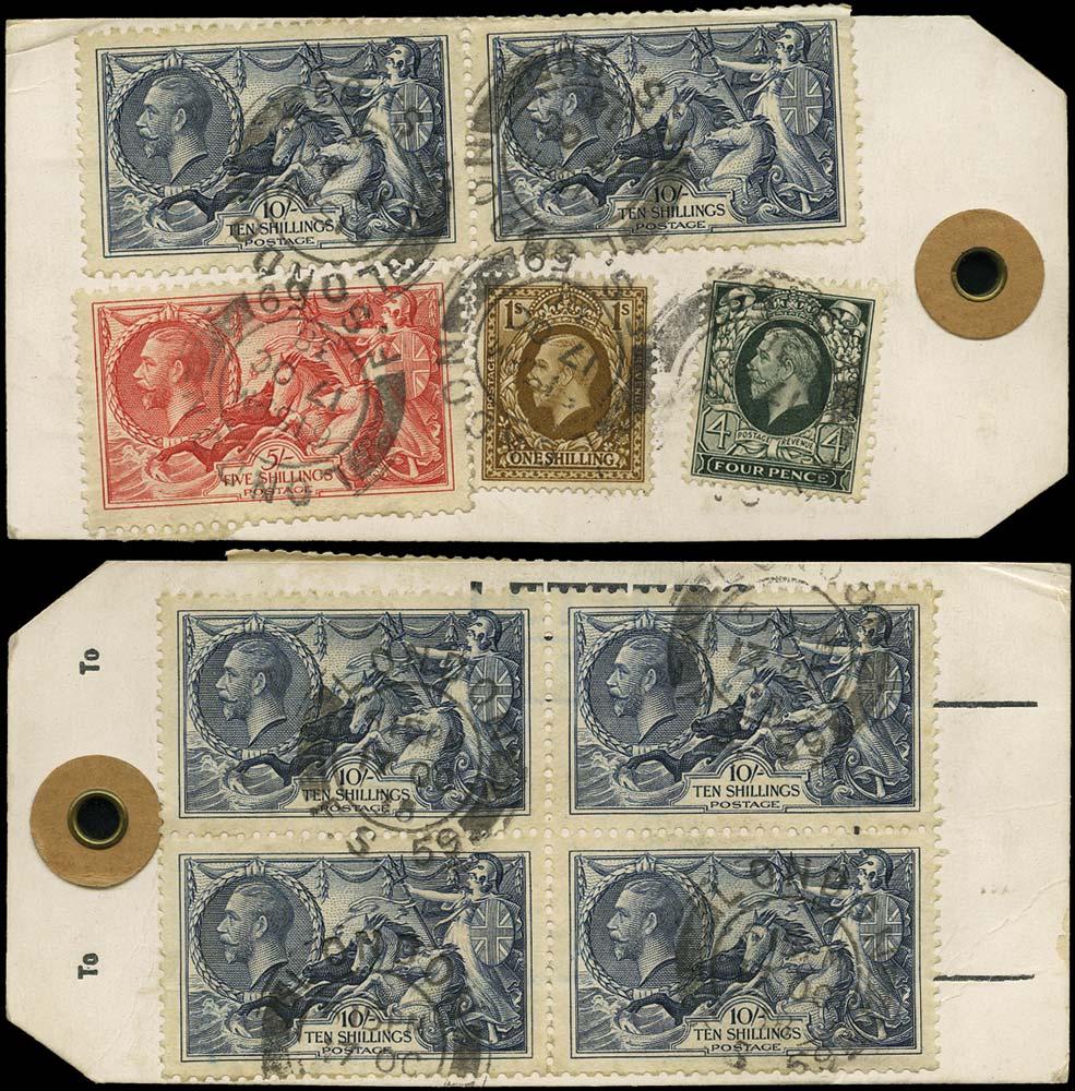 GB 1938  SG445,449,451,452 Used