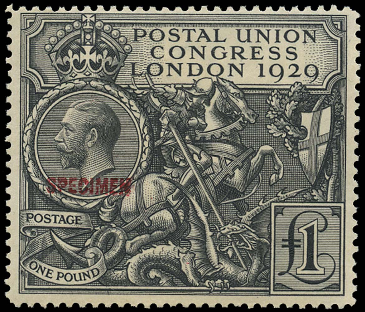 GB 1929  SG438s Specimen - Type 32