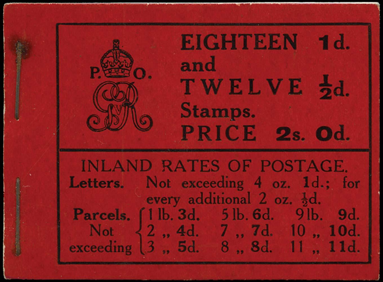 GB 1912  SGBB3 Booklet (Edition 13)