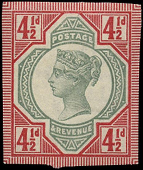 GB 1892  SG206var Mint