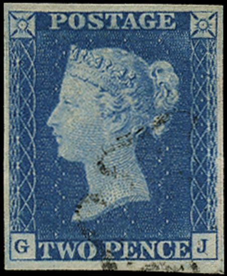 GB 1840  SG5 Pl.2 Used black MC example (GJ)