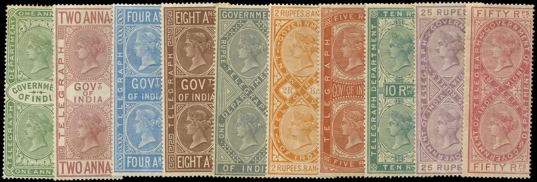 INDIA 1882  SGT32/41 Telegraph