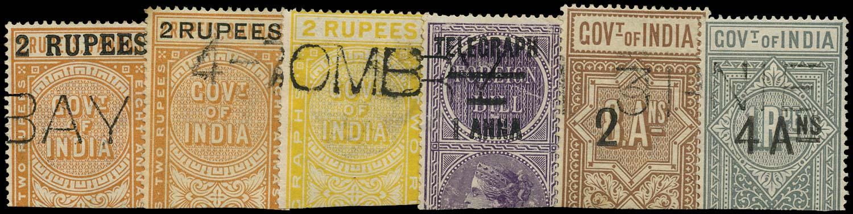 INDIA 1899  SGT52, 54/5, 66/8 Telegraph