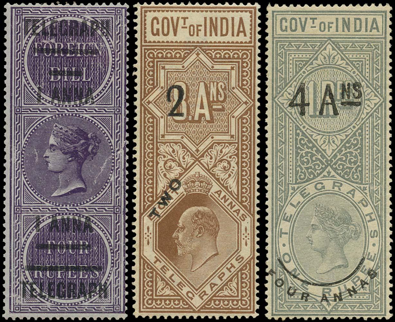 INDIA 1904  SGT66/8 Telegraph