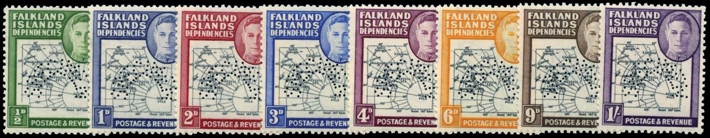 FALKLAND ISLAND DEPS 1946  SGG1s/8s Specimen