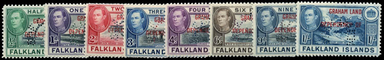 FALKLAND ISLAND DEPS 1944  SGA1s/8s Specimen