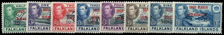 FALKLAND ISLAND DEPS 1944  SGB1s/8s Specimen