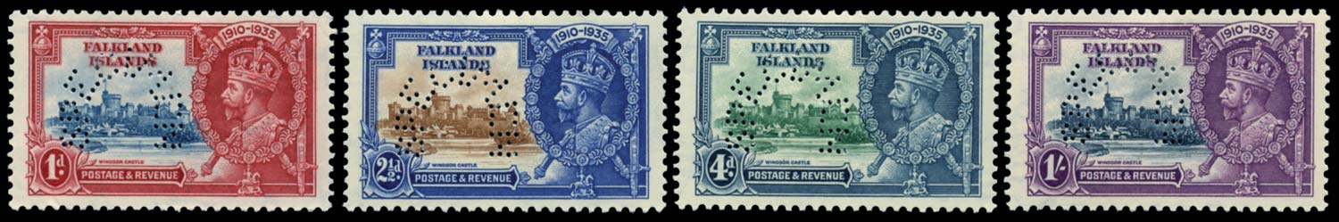 FALKLAND ISLANDS 1935  SG139s/42s Specimen