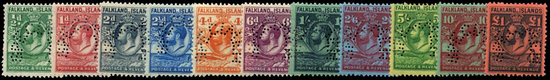 FALKLAND ISLANDS 1929-32  SG116s/26s Specimen