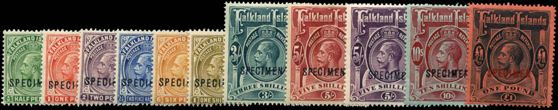 FALKLAND ISLANDS 1912-20  SG60s/9s Specimen