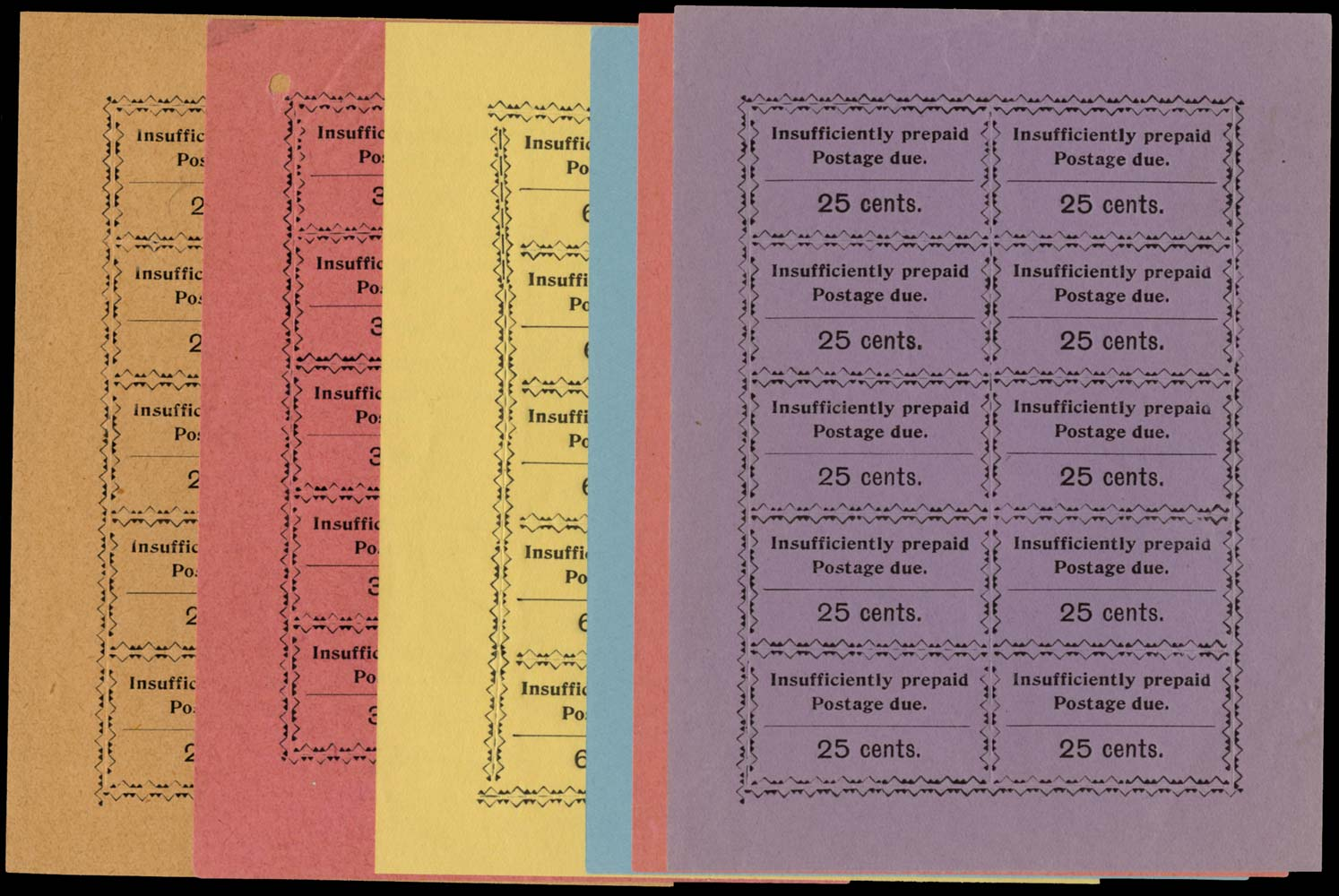 ZANZIBAR 1930-3  SGD18/24 Postage Due