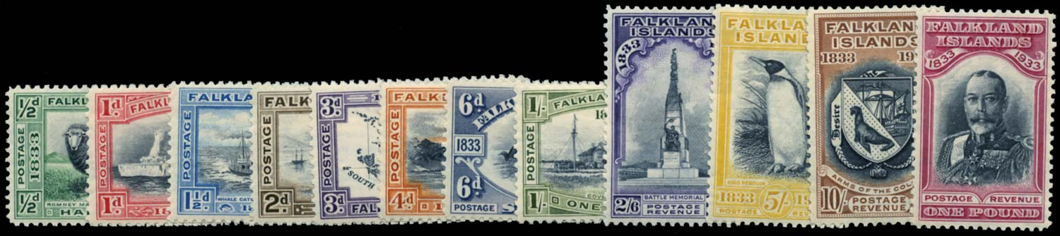 FALKLAND ISLANDS 1933  SG127/38 Mint
