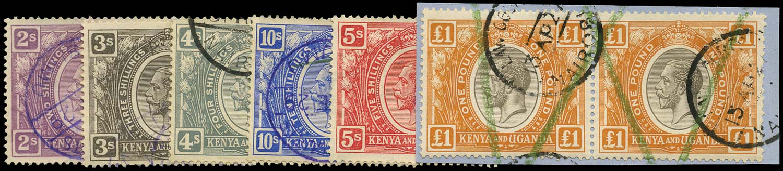 KUT 1922-27  SG88-92, 94, 95 Revenue