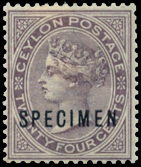CEYLON 1883  SG152s Specimen