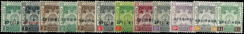 MALAYA - KELANTAN 1921-8  SG14s/23s Specimen
