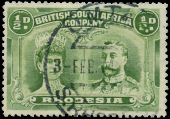 RHODESIA 1910-3  SG119 var. Used