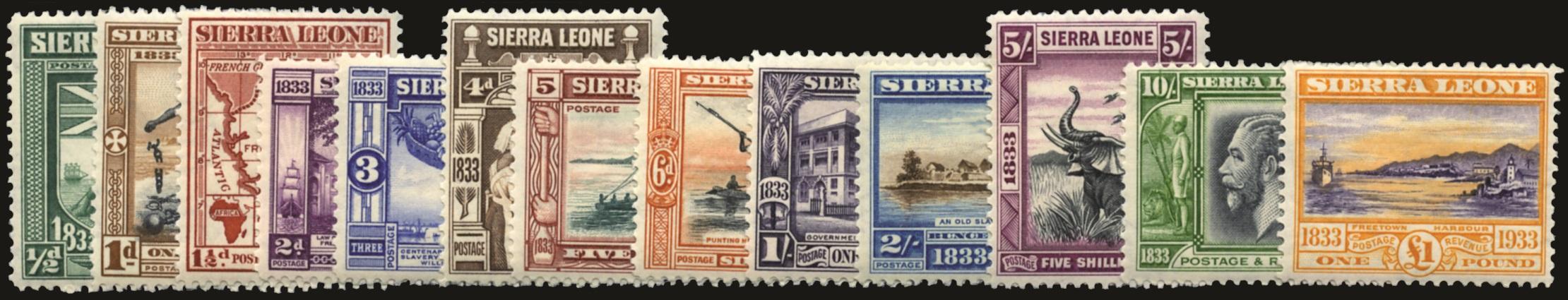 SIERRA LEONE 1933  SG168/80 Mint