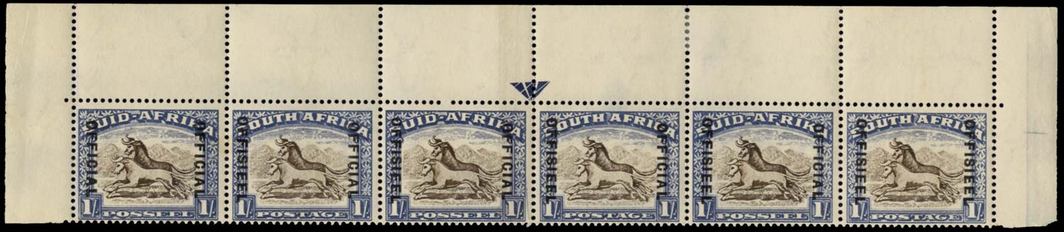 SOUTH AFRICA 1947  SGO25var Official