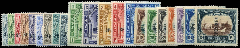 ZANZIBAR 1908-9  SG225s/45s Specimen