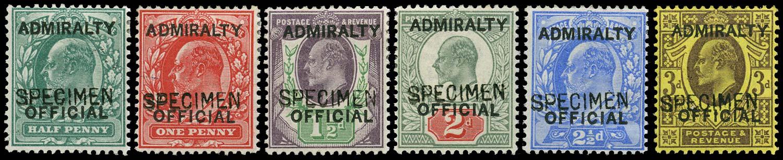 GB 1903  SGO101/6s Official -Specimen type 16
