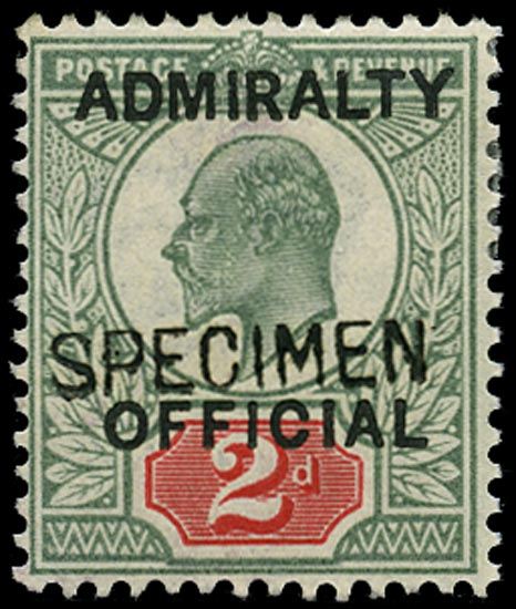 GB 1903  SGO104s Official - Specimen type 16