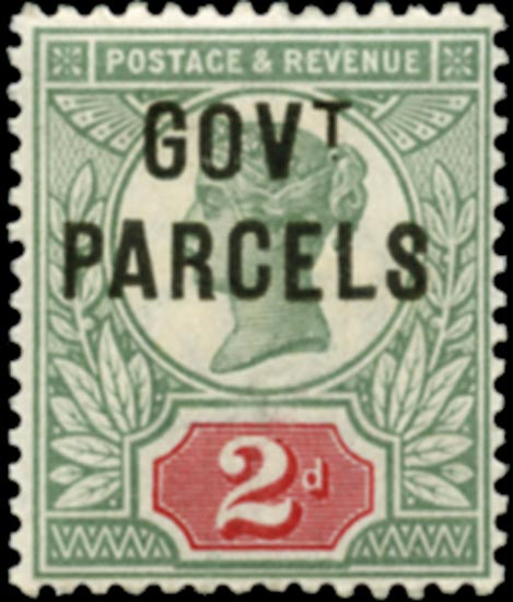 GB 1891  SGO70 Official (Govt. Parcels) unused o.g. example