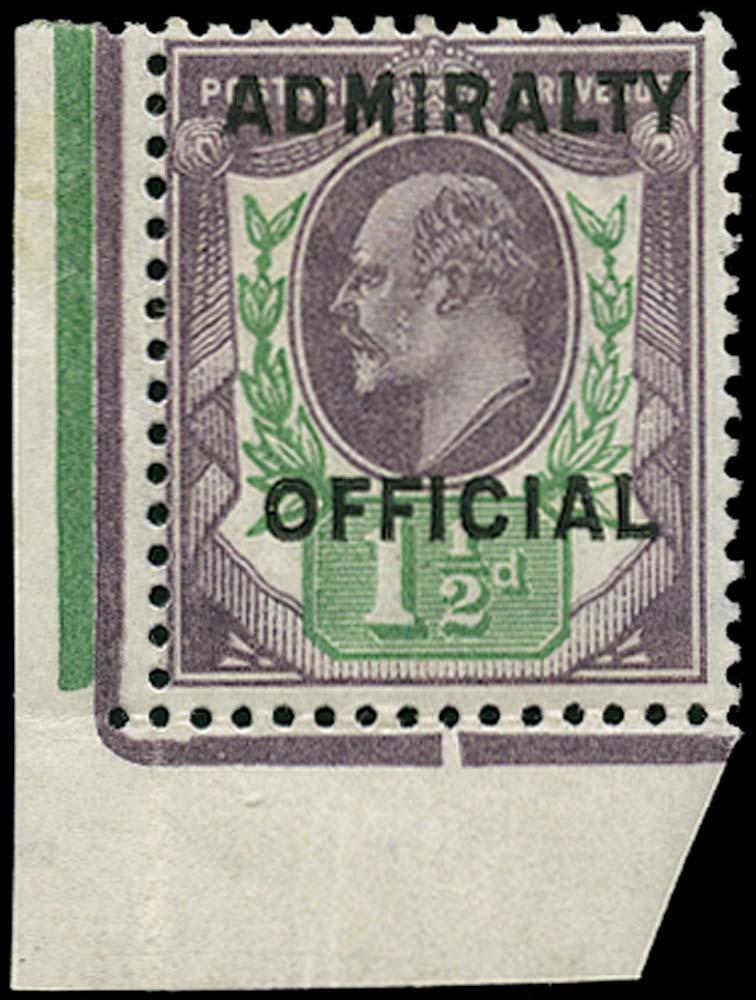GB 1904  SGO109 Official