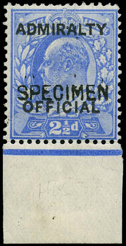 GB 1903  SGO105s Official - Specimen type 16