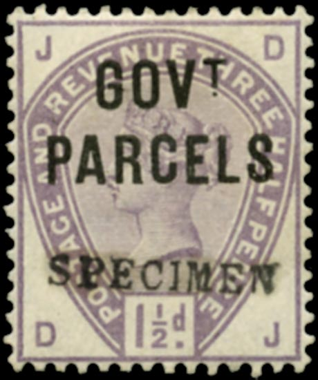 GB 1886  SGO61s Official (Govt. Parcels)