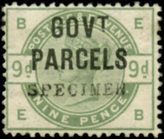 GB 1883  SGO63s Official (Govt. Parcels)