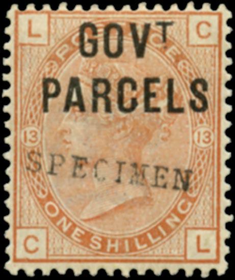 GB 1883  SGO64s Official (Govt. Parcels)