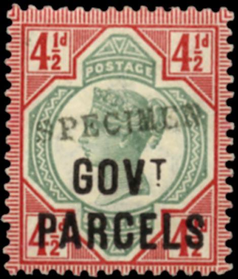 GB 1892  SGO71s Official (Govt. Parcels)