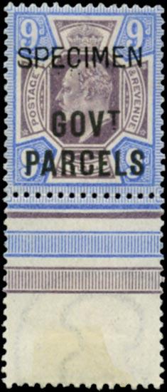 GB 1902  SGO77s Official (Govt. Parcels)